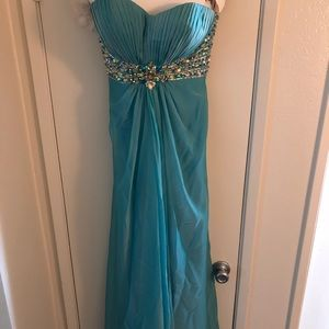 Turquoise Formal Dress Size 8
